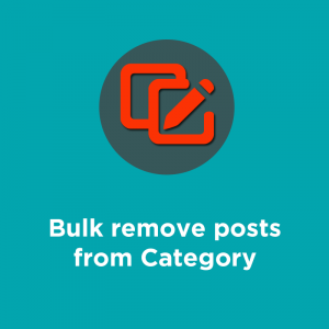 bulk remove from category
