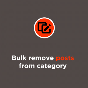 bulk remove products from category